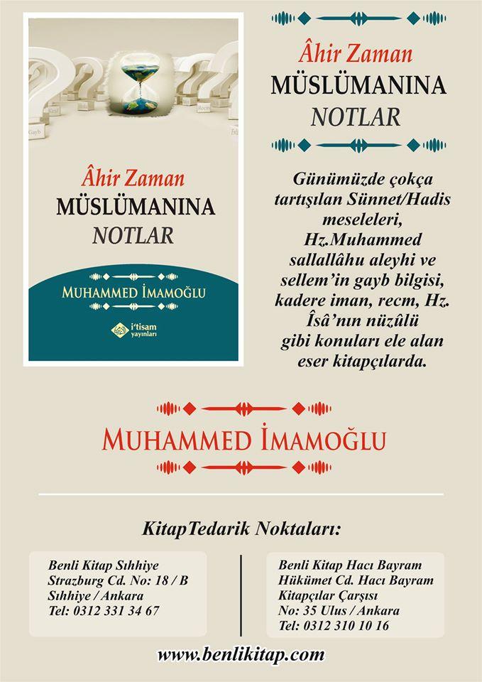 'Âhir Zaman Müslümanına Notlar' Kitabımız Çıktı